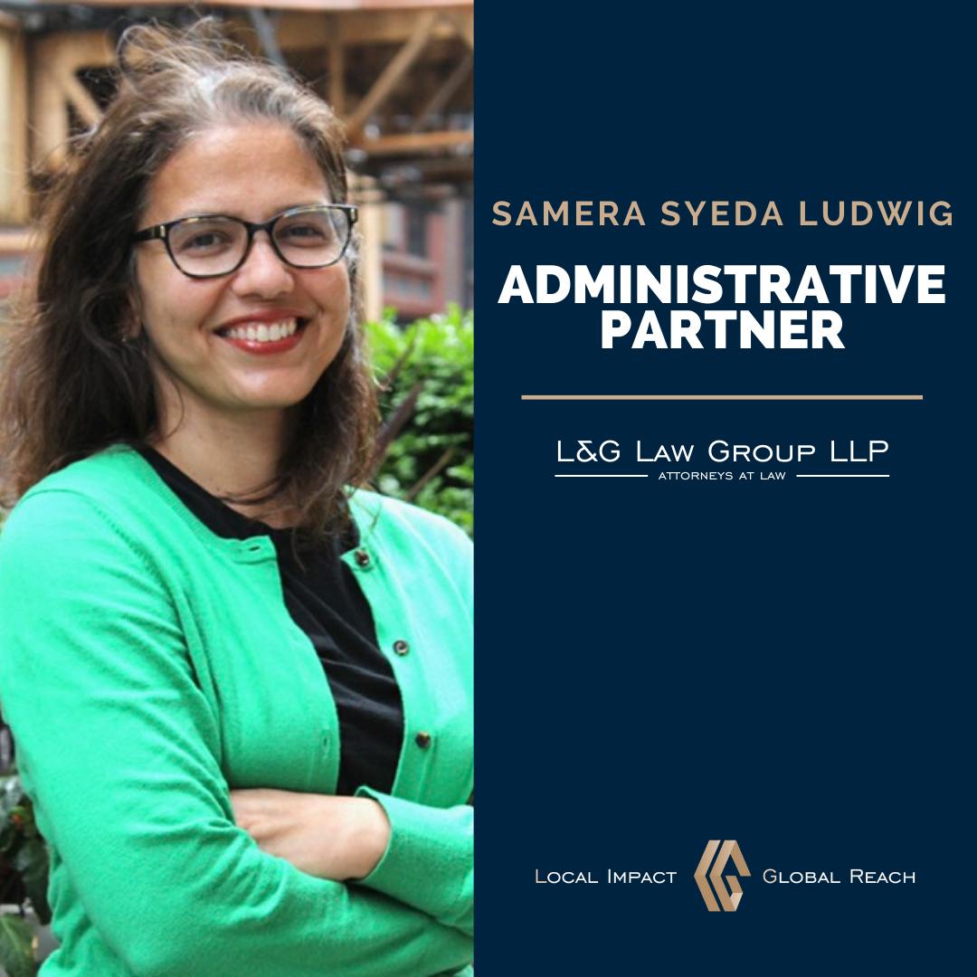 Samera Syeda Ludwig - Administrative Partner