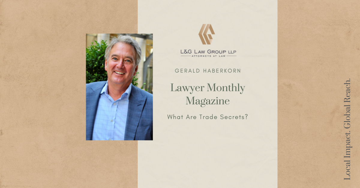 Gerald Haberkorn - Lawyer Monthly Magazine